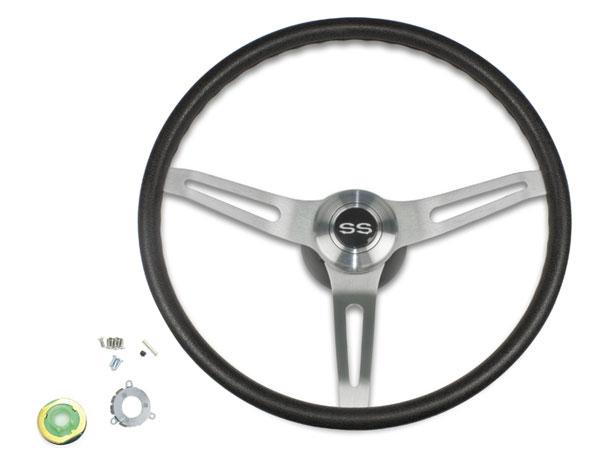 1969 1970 Chevelle Black Comfort Grip Steering Wheel Kit W
