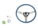 1969-1970 Nova Blue Comfort Grip Sport Steering Wheel Kit w/ SS Emblem, w/ Tilt