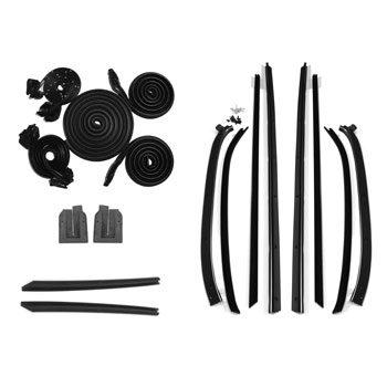 1970-1972 Chevelle Coupe Deluxe Weatherstrip Kit, 8 Piece Felts