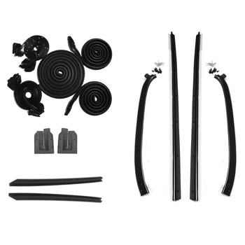 1970-1972 Chevelle Coupe Deluxe Weatherstrip Kit, 4 Piece Felts