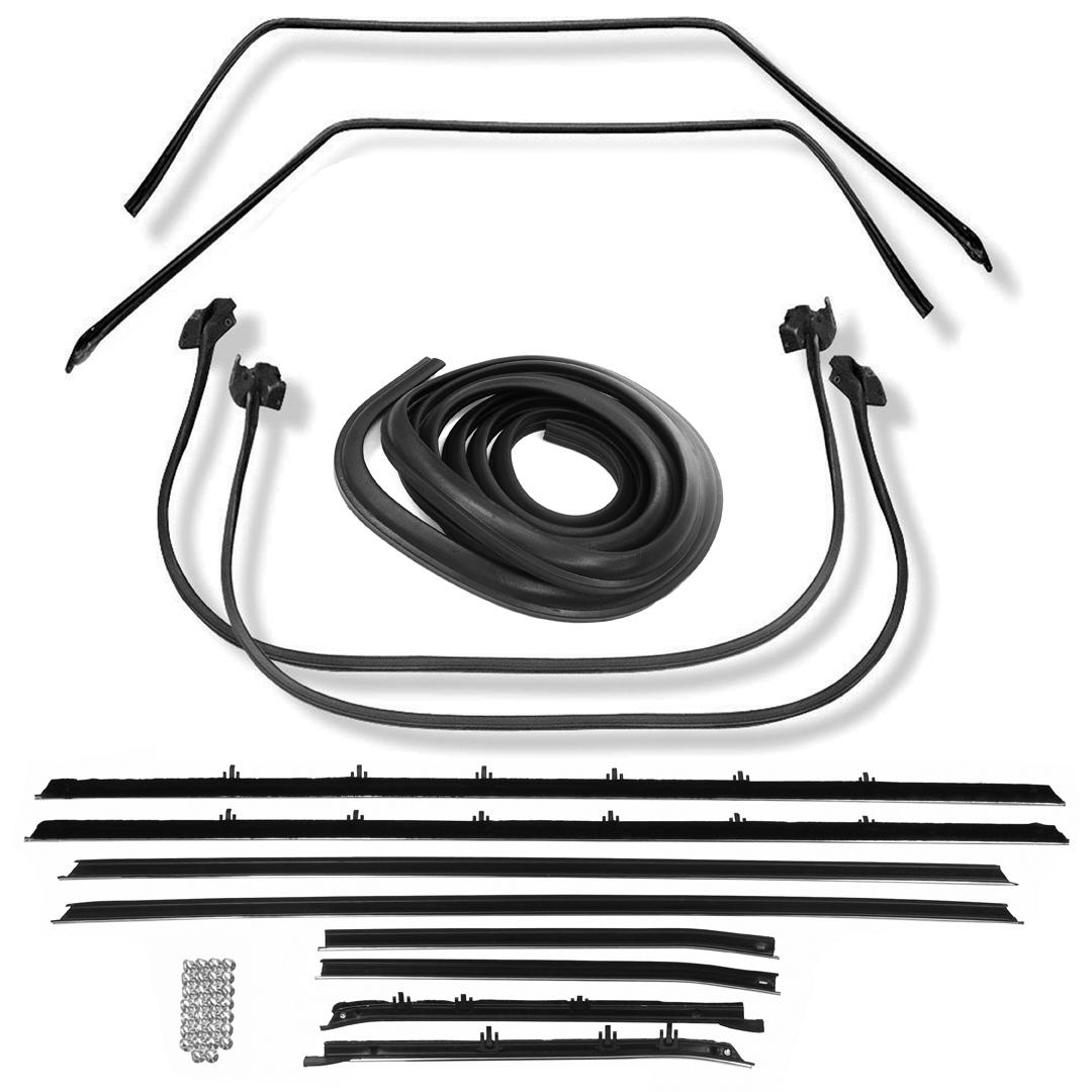 1968-1972 Nova Deluxe Weatherstrip Kit OEM Style Felts