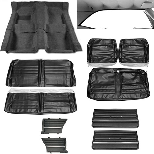 1965 Chevelle Coupe Junior Interior Kit For Bench Seats Black