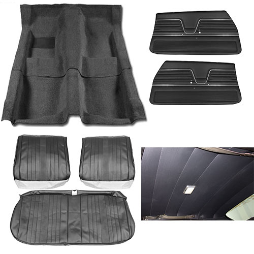 1969 El Camino Junior Interior Kit For Bench Seats Black