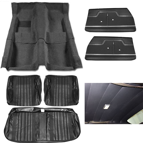 1970 El Camino Junior Interior Kit For Bench Seats Black