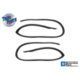 1968-1969 Camaro Roofrail Weatherstrip Trim Parts Ultra Soft