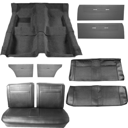 1962 1963 Nova Interior Kit Bench Seat Convertible Black