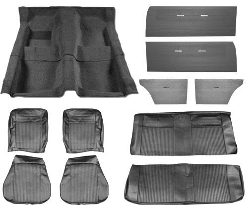 1962 1963 Nova Interior Kit Bucket Seat Convertible Black