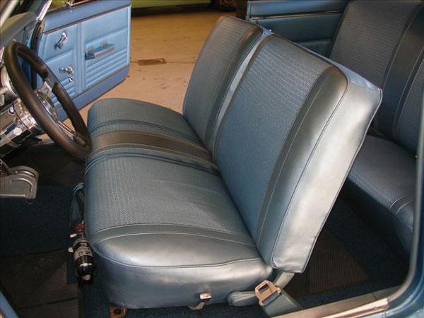 1967 nova interior kit standard non ss bench seat hardtop black. Black Bedroom Furniture Sets. Home Design Ideas