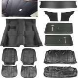 1969-1970 Nova Interior Kit, Standard Buckets, Black