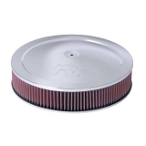 1967-1992 Camaro K&N 14x3 Chrome Air Filter Assembly with 9/16 inch Raised Base: 60-1264