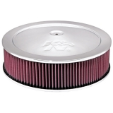 1967-1992 Camaro K&N 14x4 Chrome Air Filter Assembly with 1-1/4 inch Drop Base: 60-1290