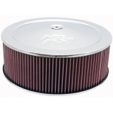 1967-1992 Camaro K&N 14x5 Chrome Air Filter Assembly with 1-1/4 inch Drop Base: 60-1300