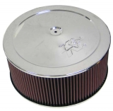 1967-1992 Camaro K&N 14x6 Chrome Air Filter Assembly with 1-1/4 inch Drop Base: 60-1310