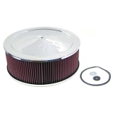 1967-1992 Camaro K&N 14x5 Chrome Air Filter Assembly with 7/8 inch Drop Base: 60-1450