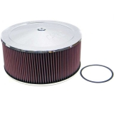 1967-1992 Camaro K&N 14x6 Chrome Air Filter Assembly with 7/8 inch Drop Base: 60-1460