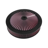 1967-1992 Camaro K&N 14x3 X-Stream Air Filter Assembly with 9/16 inch Raised Base: 66-3010