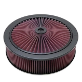 1967-1992 Camaro K&N 14x4 X-Stream Air Filter Assembly with 9/16 inch Raised Base