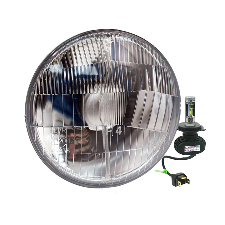 1964-1970 Chevelle 5 3/4 Inch Beam LED Amber Halo Headlight Set
