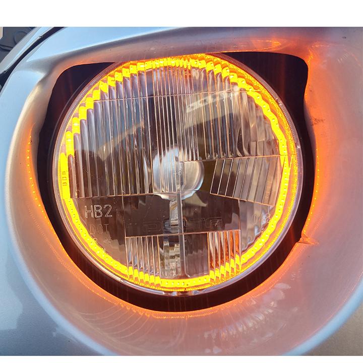 1967 1981 Camaro 7 Inch Led Amber Halo Headlight Set