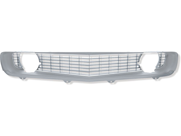 1969 Camaro Standard Grille In Silver