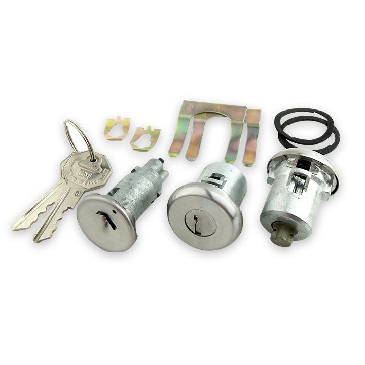 1968 Nova Concourse Lock Set Ignition and Doors Ocatagon Knock Out Keys