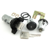 1985-1988 Camaro Black Cap Lock Set Ignition and Doors Square Keys