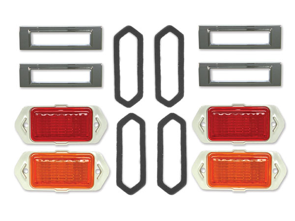 1969 Chevelle Front And Rear Side Marker Kit