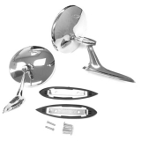 1963-1965 Nova Round Bowtie Side View Mirror Kit