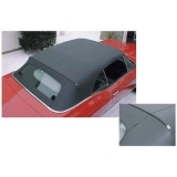 1962-1963 Nova Convertible Top With Plastic Rear Window  Black