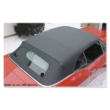 1968 -1972 Chevelle Convertible Top, Black, Glass Window