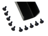 1964-1972 Chevrolet Convertible Rain Gutter Screws, Black