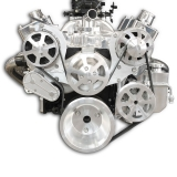 EMS S-Drive Plus Serpentine Pulley System, Billet PS Reservoir, Small Block, Raw Machined