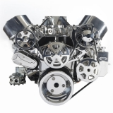 EMS S-Drive Plus Serpentine Pulley System, No AC, Billet PS Res, Small Block, Polished: MS107-12BP