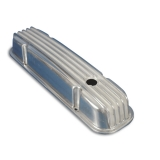 1967-1981 Camaro Eddie Motorsports Short Finned Aluminum Small Block Valve Covers - Polished: MS108-28P