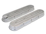 1967-2002 Camaro Eddie Motorsports Chevy LS Cast Valve Covers, Ball Milled, Polished: MS108-51P