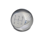 Eddie Motorsports Universal 5 Speed Shifter Knob - Clear Anodized