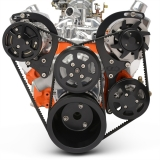 EMS Chevy Small Block Raven V-Drive Kit, Remote Res, Gloss Black Anodized: MS118-30RBA