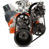 EMS Chevy Small Block Raven V-Drive Kit, No AC, Remote Res, Gloss Black Fusioncoat: MS118-32RBA