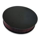 Eddie Motorsports Round 14 Inch Air Cleaner Assembly w/ Smooth Top - Gloss Black