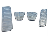 Eddie Motorsports 2010-1015 Camaro Billet Pedal Covers, Clear Anodized