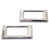 Eddie Motorsports 1968-1969 El Camino Marker Bezels - Clear Anodized