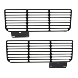 Eddie Motorsports 1967-1968 Camaro Valance Air Vents, Gloss Black Anodized: MS275-53BA