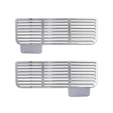 Eddie Motorsports 1967-1968 Camaro Valance Air Vents, Clear Anodized: MS275-53CA