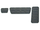 Eddie Motorsports 1967-1969 Camaro Billet Pedal Covers, Automatic, Black Anodized: MS275-90B