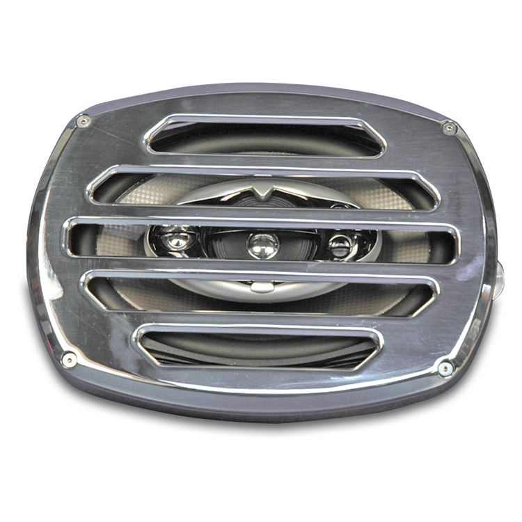 Eddie Motorsports Classic Style Billet Aluminum 6x9 Speaker Grill - Polished: MS400-30P