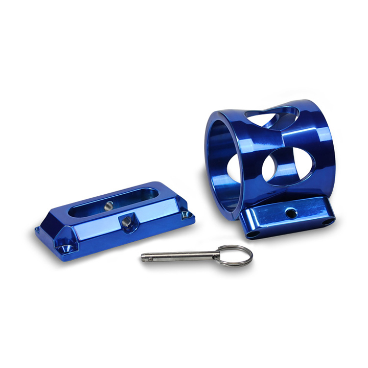Eddie Motorsports Extinguisher Bracket for 1lb Extinguisher, Blue: MSBRK-102B