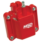 1967-2019 Camaro MSD Dual Connector High Performance Ignition Coil Red: 8226