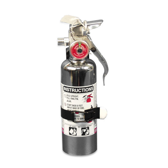 Eddie Motorsports Chrome Clean Agent Small 1lb. Fire Extinguisher: MSEXT-105