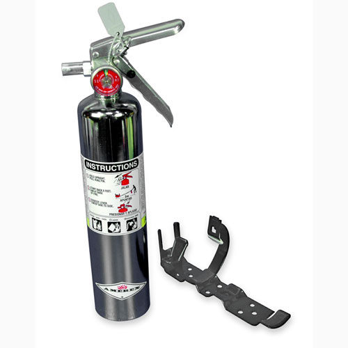 Eddie Motorsports Chrome Large 2.5lb. Fire Extinguisher: MSEXT-103