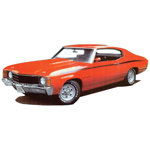 1971 1972 Chevrolet Heavy Chevy Black Stripe Kit